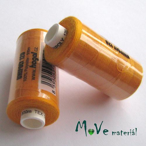 Nit Unipol 100%PES 500m tm. oranžová
