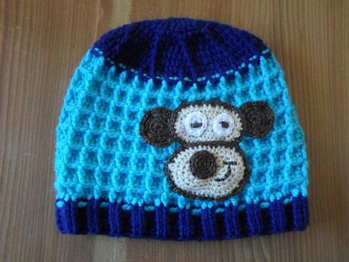 Zimní čepice s opicí