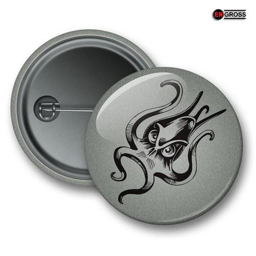 Reflexní připínací odznak - Chobotnice
