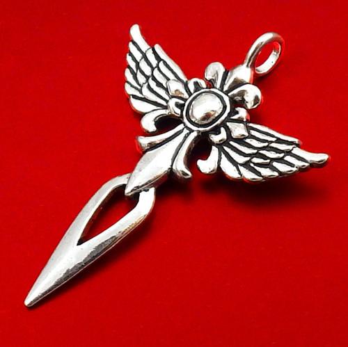 Velký starostříbrný přívěsek - anděl / křídla