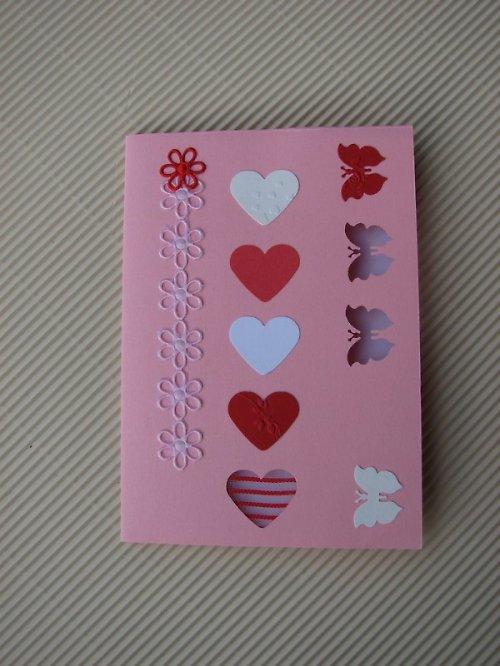 Papírové přání Motýl a srdce 15x10 doprodej