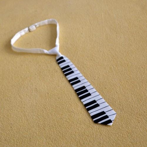 Dětská hedvábná kravata s klaviaturou