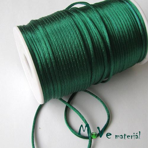 Šňůra Ø2mm smaragdová,1m