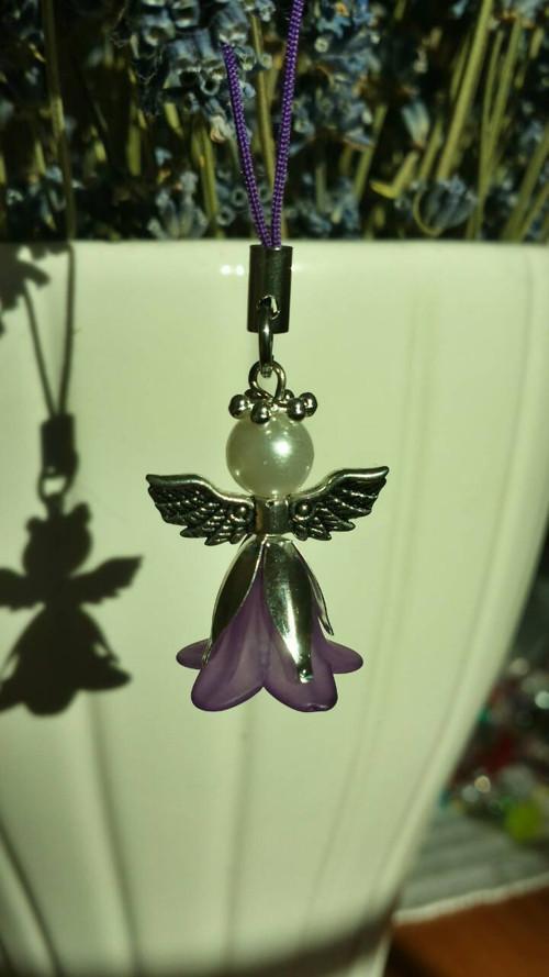 Andělíček fialovo-bílý