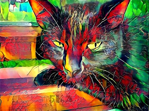Malá barevná Lilith - autorská fotografie s efekty