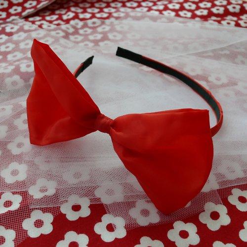Červená čelenka s maxi mašlí