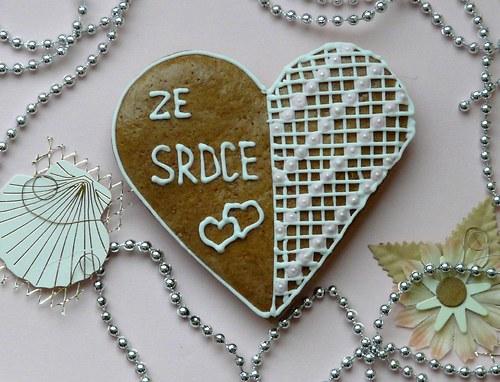 """Valentinské srdce  s nápisem \""""Ze srdce\"""""""