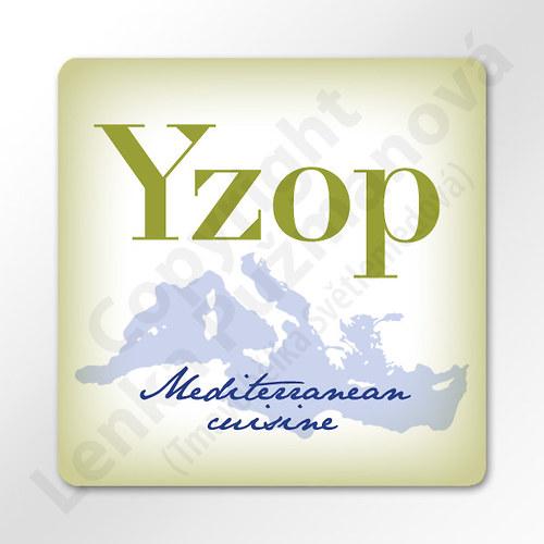 Yzop - samolepka na kořenku