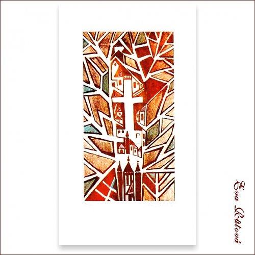 Originál litografie - LABYRINT
