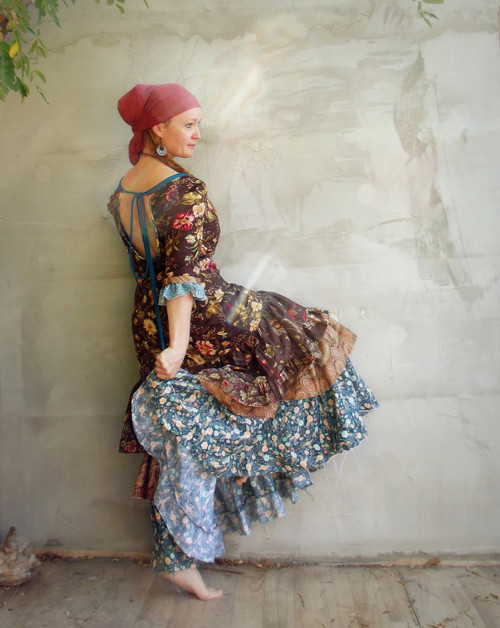 """""""O cikánské Duši..."""" maxi šaty Gypsy Queen"""