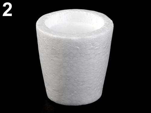 Polystyrenový květináč 7x7,5cm (1ks)