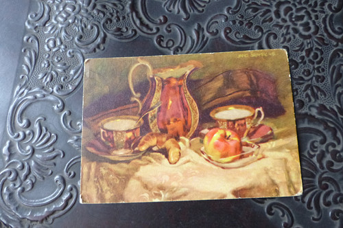 U snídaně... stará pohlednice