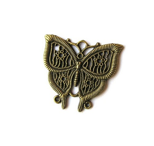 Přívěsek, filigrán, motýl - 1 kus