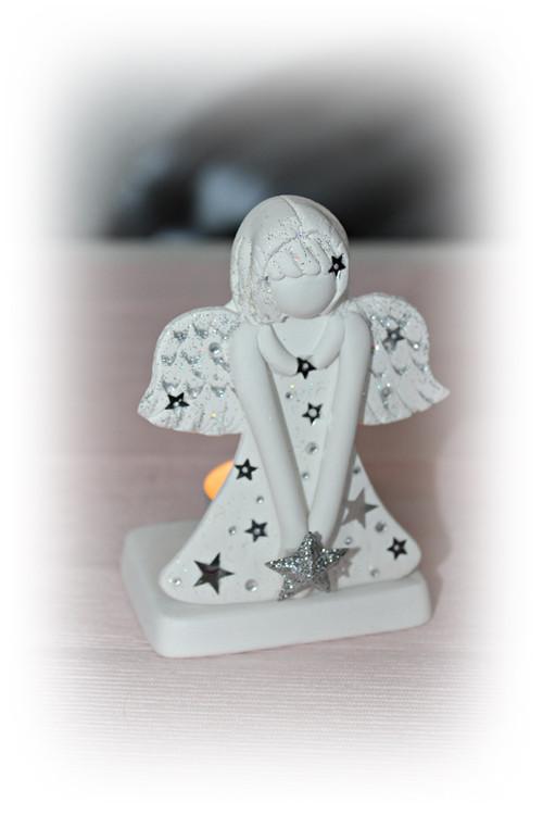 Andělský svícínek - stříbrný