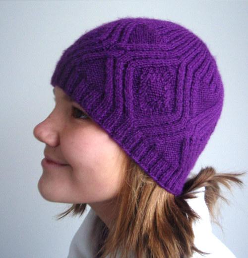 Čepice Sytě fialová