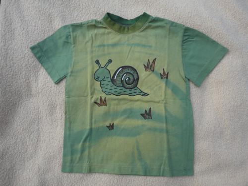 """Dětské zelené tričko \""""šnek\"""" vel. 116"""