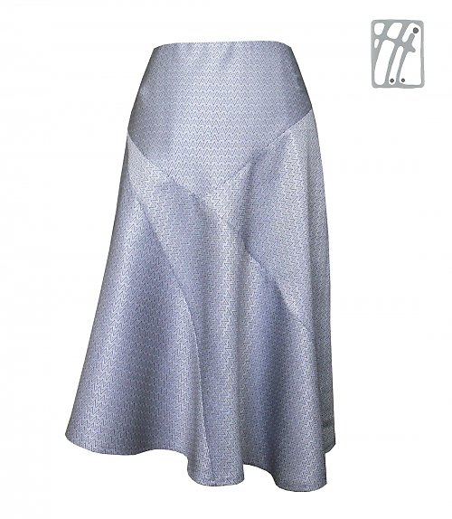 Společenská sukně Měsíční třpyt