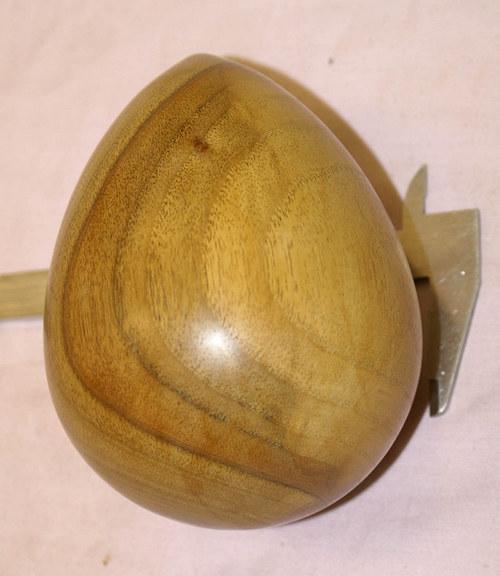 Vejce dřevěné - ořech