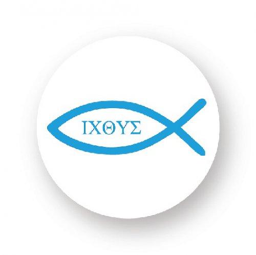 Placka s rybkou - ICHTYS modrá