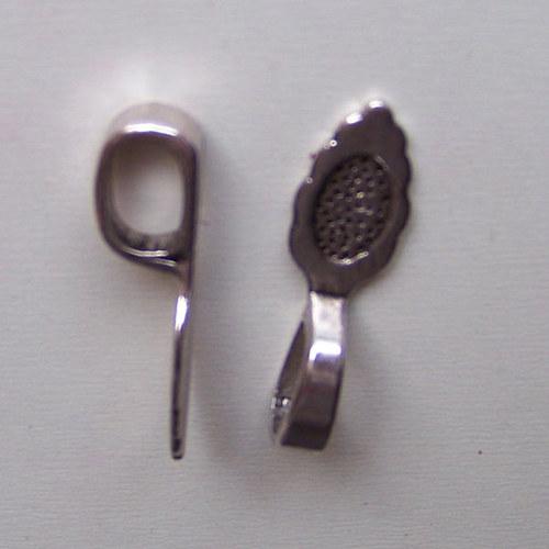 očko závěsné slzička/ ant. stříbro/ 26x8mm/ 2ks