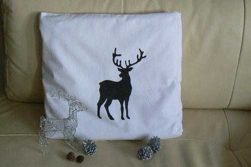 Povlak na polštář s jelenem