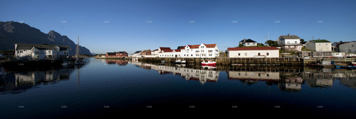 Panoramatická fotografie 1 - Lofoty, Norsko