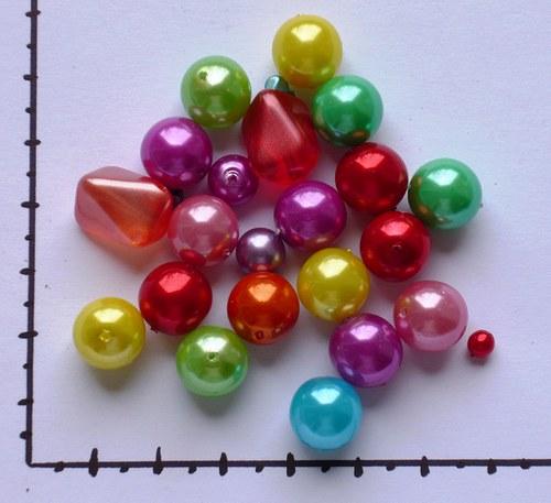 Směs perel barevných, 36g