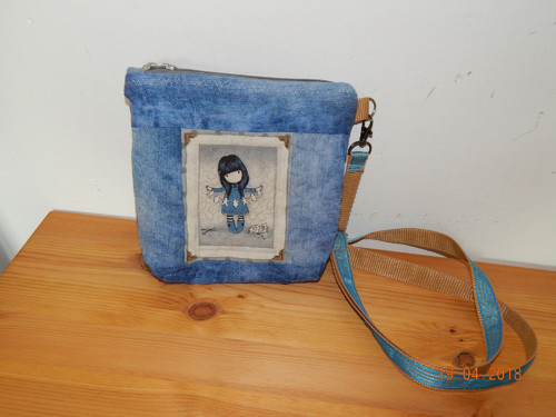 džínová malá kabelka
