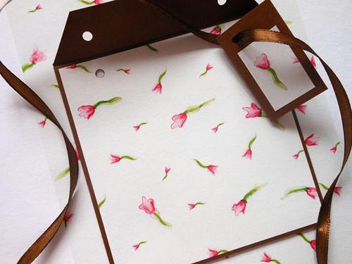 Malované tulipánky II -  obal na CD 13x14 cm
