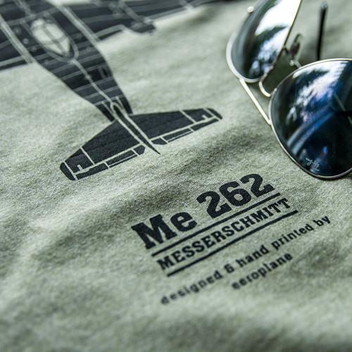 Messerschmitt Me262 tričko pánské - khaki (reg)