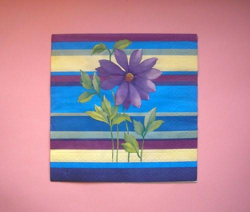 Fialková květina