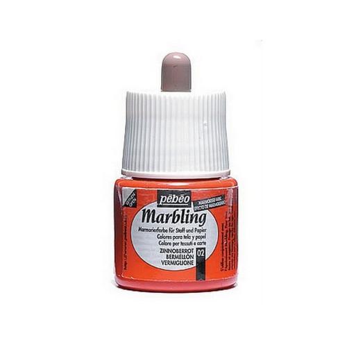 Marbling barva Pebeo / 45 ml / Vermillion