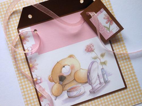 Medvědí parádění -  obal na CD 13x14 cm