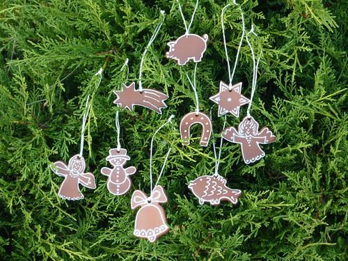 Vánoční ozdoby keramické