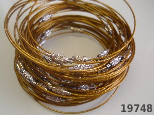 19748-B30 Náramkové lanko se šroubkem ŽLUTOZLATÉ