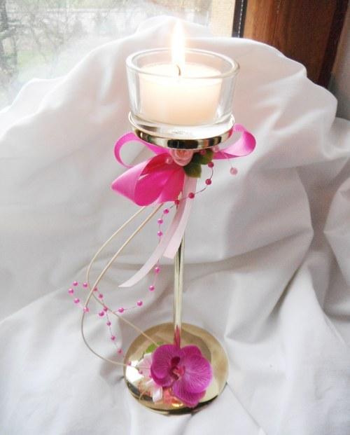 svícen na stopce - orchidej