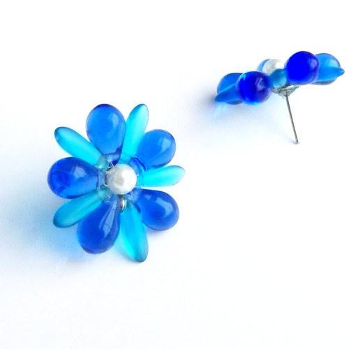 Světle modré kytičky - chirurgická ocel