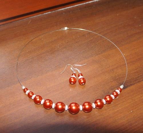 Oranžová perličková sada