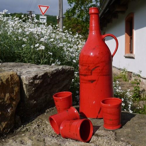 lahev štíhlá Píšťala - Ohnivý rej
