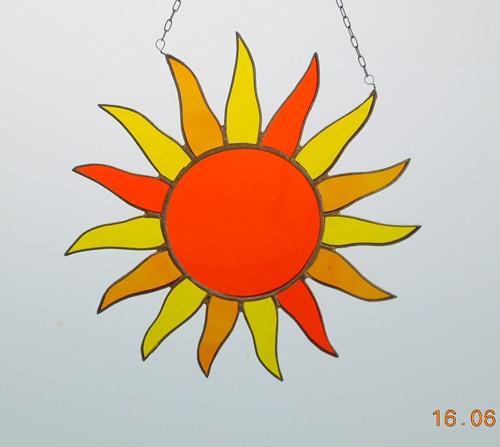 Slunce oranžové
