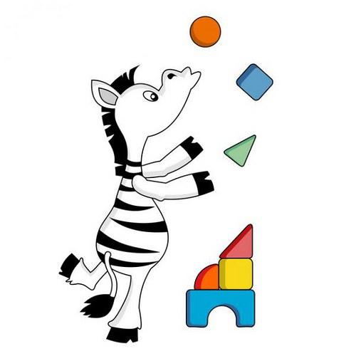 Zebra 40x22cm Farebná nálepka 254f