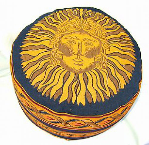 Taburetka modrá Slunce,špaldové slupky,16cm