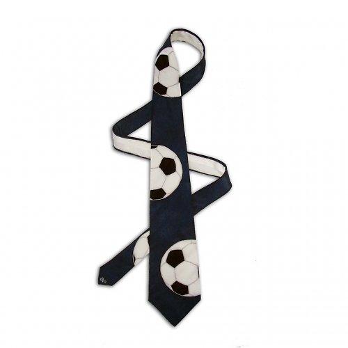 Fotbalová kravata - tmavě modrá