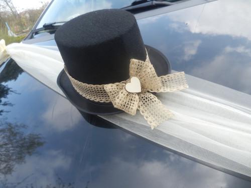Svatební dekorace,výzdoba na auto ženicha CYLINDR