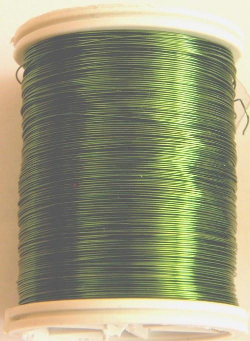 Měděný lakovaný drát 0,3 mm pistáciový