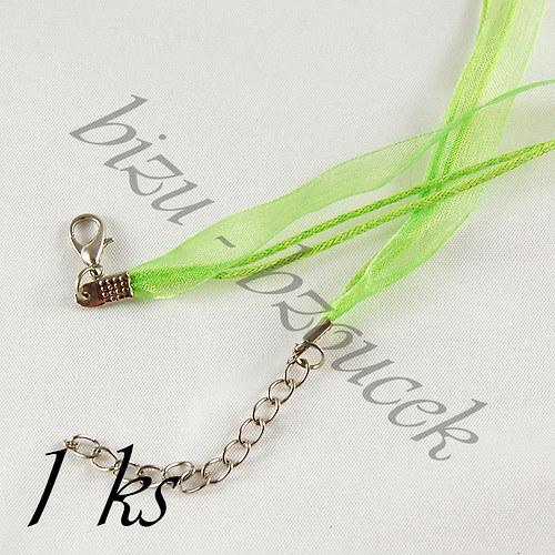 Zelenožlutý náhrdelník - 1ks