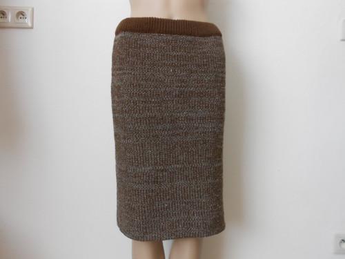 Dámská pletená sukně s přírodní vlnou