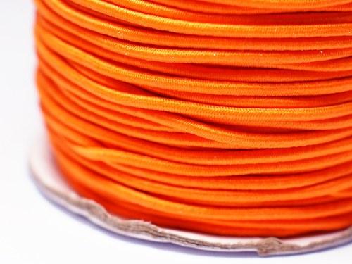 pruženka kulatá 2 mm- sytě oranžová