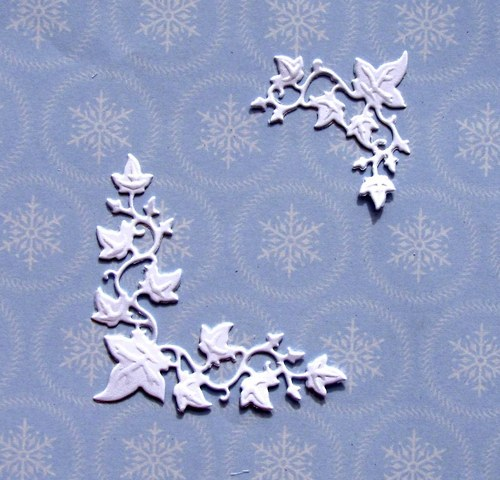 Rohový ornament s břečťanem - 2 ks