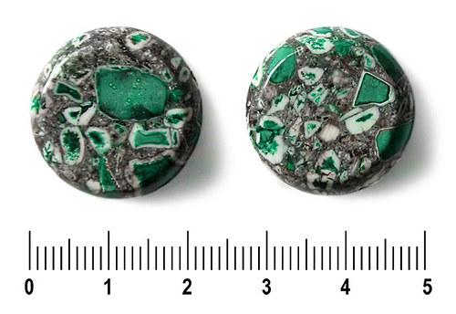 Zelená zlomková kolečka, 22 mm, 1 ks